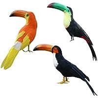 Gazechimp 3x Pájaro Pequeño Decoración de Jardín de Pájaros Regalo de Fiesta Festival Accesorios Decorativos