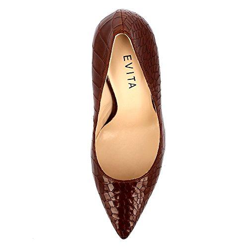Evita Shoes Alina, Scarpe col tacco donna Marrone