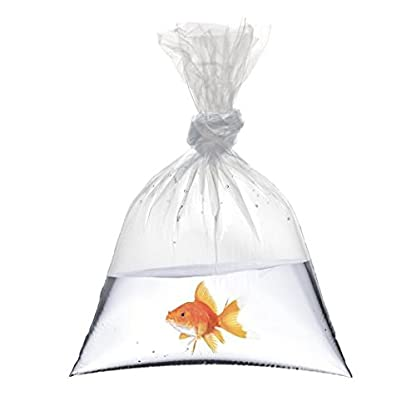 """18"""" x 36"""" Fish Bags Watertight Transport Polythene bags 200 Guage Quality Koi Marines Discus Corals Different Quantities (5) 1"""