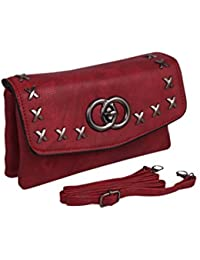 Bee Fashionable Sling Bag Cum Pouches For Women /Girl (Brown)