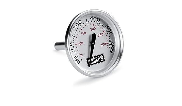 Weber Holzkohlegrill Thermometer Nachrüsten : Weber ersatzteil deckelthermometer q bis nr amazon