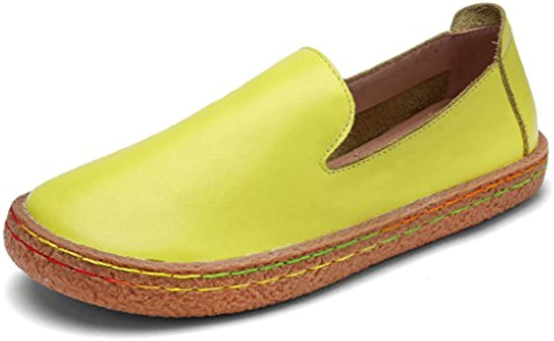 HWF Zapatos para mujer Zapatos redondos de cabeza redonda de primavera Zapatos planos ocasionales de mujer Zapatos...