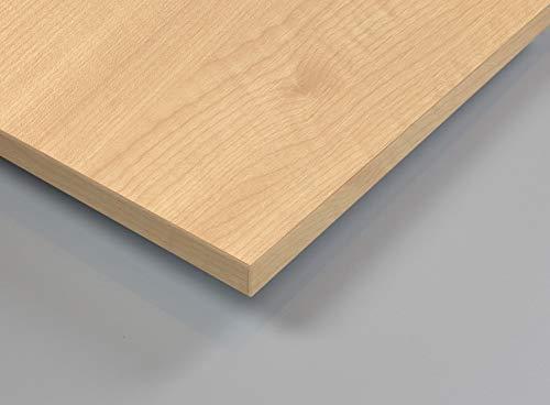 MySpiegel.de Tischplatte Holz Zuschnitt nach Maß Beschichtete Holzdekorplatte (110 x 110 cm, Ahorn Natur) -