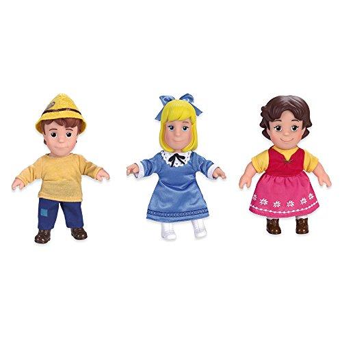 Famosa 700012930–Soft Juego de muñecas con Heidi, Peter y Klara en Paquete de Regalo, 17cm