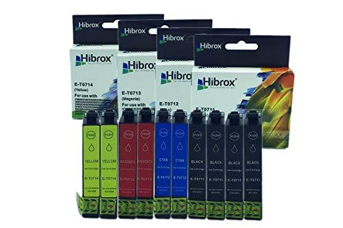 hibrox 10 compatibile inchiostro cartuccia sostituzione per epson 4x t0711 nero 2x t0712 ciano 2x t0713 magenta 2x t0714 giallo per epson bx 300 f 310 fn 610 fw d 120 120 pro 78 92 dx 4000 4050 4400
