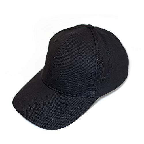 Unisex Men and Women/Herren oder Damen, 100% Baumwolle, Metallschnalle, Metal Buckle, Atmungsaktiv, Weiß, Blau, Rot, Grau, Schwarz (Schwarz) ()