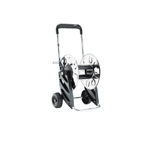 Claber 77310-05 8979 airon, carrello avvolgitubo, acciaio inox e alluminio, 60 m