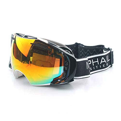 WDDP Skibrille Für Männer Und Frauen, OTG-Snowboardbrille Mit Doppellinse (UV400-Schutz Und Antibeschlag) Für Skating-Skifahrer,A