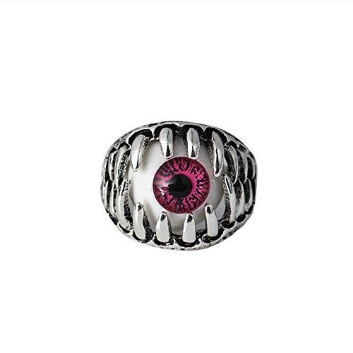 Damen und Herrenmode Ring,Transwen Dominierende übertriebene Persönlichkeit Eye Ring Augapfel Ring Augapfel Ring Festlich Schmuck Halloween Grusel Interessant Auge Ring (7, Rosa)