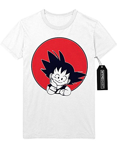 T-Shirt Son Goku Dragon Ball Z Growing Fast GT Super Trunks Gohan Saiyajin C980007 Weiß