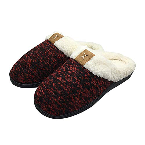 d202832dda8 House Slippers Women Indoor Home Slipper Cotton Cozy Plush Memory Foam Flax  Casual Striped Slide Ladies