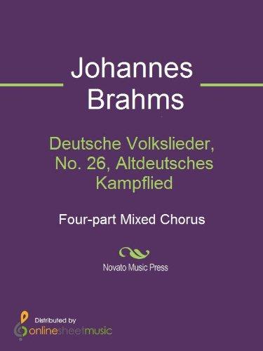 Deutsche Volkslieder, No. 26, Altdeutsches Kampflied
