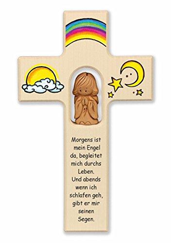 Christshop Schutzengelkreuz, Taufkreuz, Kinderkreuz mit Schutzengel Begleiter