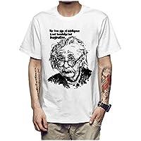 Z-X Camiseta de Manga Corta para Hombre de Diseño Personalizado Americana, Blanco c, s