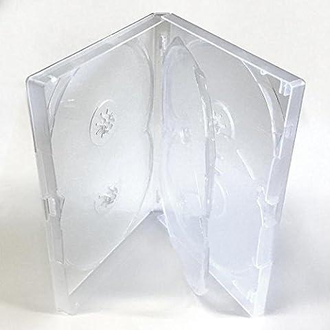 Amaray DVD Caso–5way–Caja de almacenaje (1pcs) en transparente para 5discos