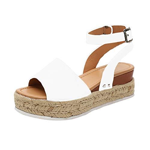 IVYSHION Sandali Donna Zeppa Estivi Espadrillas donna platform con tacco sandali punta aperta,elegante e moda,35-43