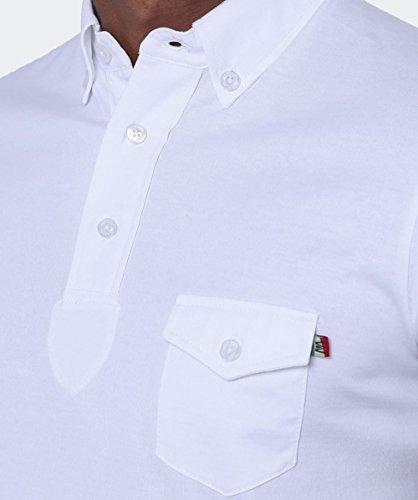 Mancini MARCUS camicia di Polo Bianco Bianco