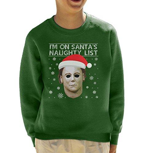 Michael Myres Naughty List Kid's Sweatshirt (Halloween Naughties)