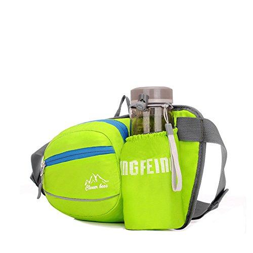 wewod hommes femmes étanche randonnée de voyage pack Sacoche de ceinture Fitness Outdoor, vert, 22*12*14cm