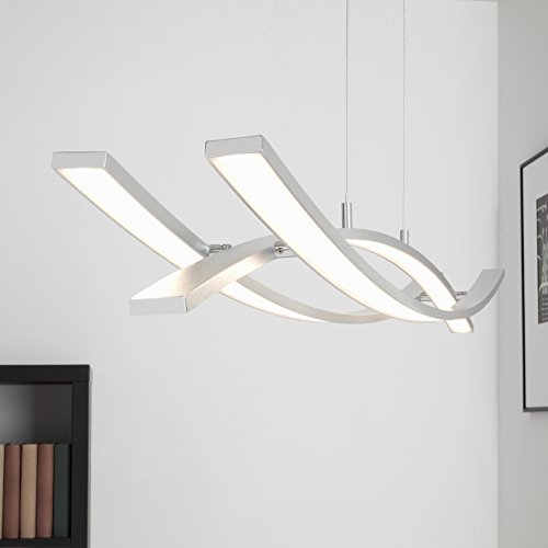 Briloner Leuchten LED Hänge- & Pendelleuchte, geschwungene ...