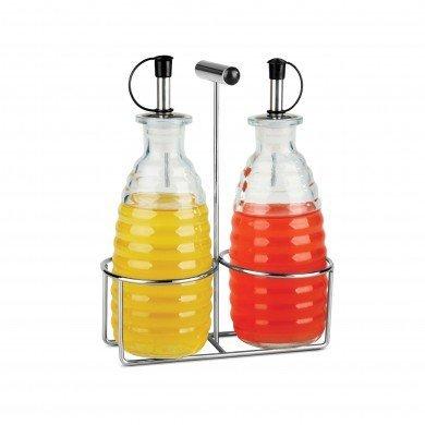 Kole OD438 Oil and Vinegar Cruet Set with Stand, Regular by Kole Cruet Stand