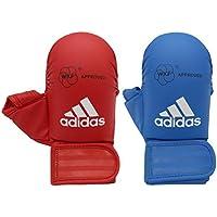 adidas Mitts with Thumb WKF-Guantes de Karate con Pulgar, Unisex Adulto, Rojo, Small