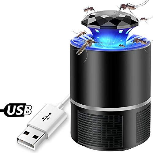 Ysmart Lampada Anti Zanzare,Insetti Volanti Killers USB Lampada Repellente LED Elettronico Mosquito Killer Lamp Trappola Per Casa Patio Esterno Cantiere Senza Chimici Zanzariera Elettrica Nero