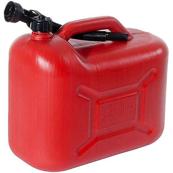 Kanister Aus Kunststoff 20 Liter Für Kraftstoff Kraftstoffkanister Benzinkanister Kanister Kraftstoff Un Baumarkt