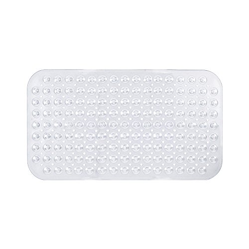 Freelance PVC Shower Mat, Bathroom Bath Tub Non Slip Grip Bathmat, Transparent (69 x 39 cm)