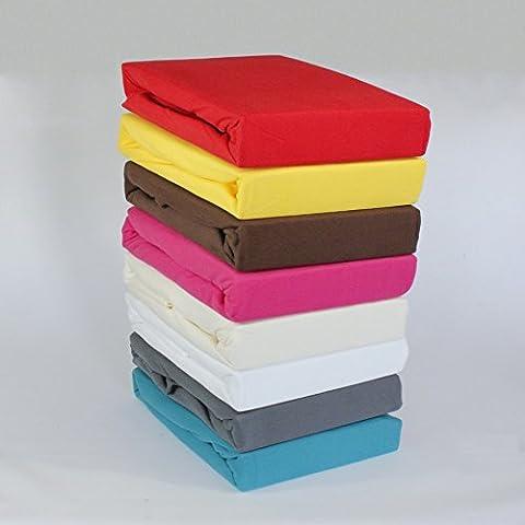 Winter Fleece Spannbettlaken Topper Boxspring 180x200 - 200x200 Spannlaken Laken, Farbe:Taupe