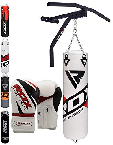RDX Boxsack MMA Kampfsport Boxen Sack 5FT Klimmzugstange Set Kickboxen Training Gefüllt Gewicht (MEHRWEG) -