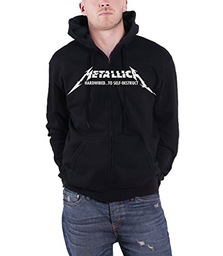 Metallica Hardwired...To Self-Destruct Sudadera capucha con cremallera Negro XXL