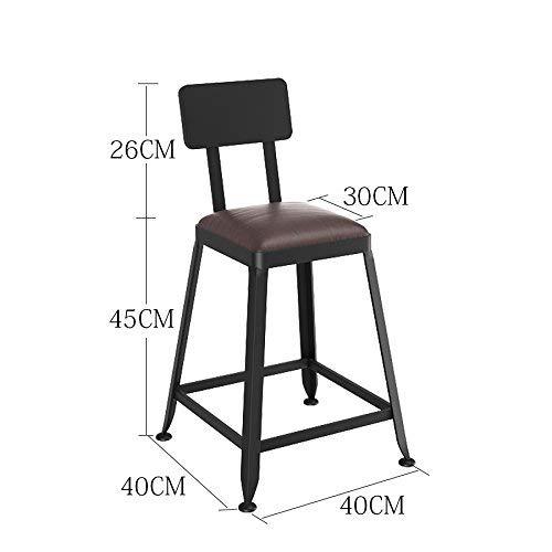 ch-AIR Chaise de Salle à Manger/siège de Bar,Chair Chaise Haute Simple en Bois Massif Room Salon/Réception / Salon de beauté/Salon de Coiffure/Tabouret,45cm,* 01