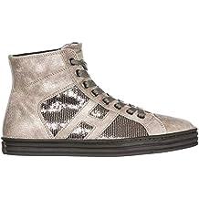 f9702a814e770 Hogan Rebel Sneakers Alte R141 Donna Argilla palude