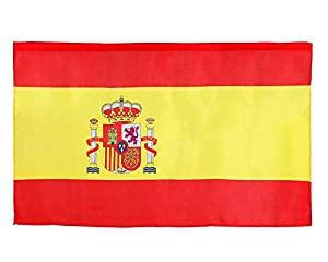 Atosa-57618 Atosa-57618-Bandera De España 120X60 cm-Mundial De Fútbol Y Deportes, Color rojo y amarillo (57618
