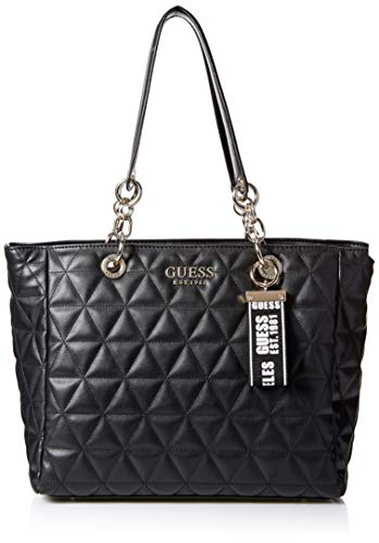 Guess Laiken, Bolso tipo tote para Mujer, Negro (Black), 13.4x27.5x43 centimeters (W x H x L)