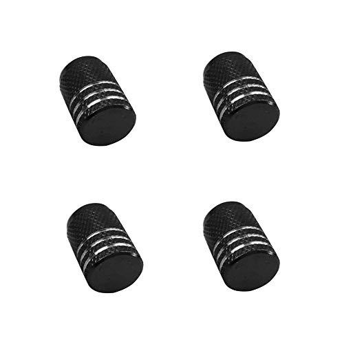 longyitrade - Tappi coprivalvola per Pneumatici Auto, Moto, in Alluminio, 4 Pezzi