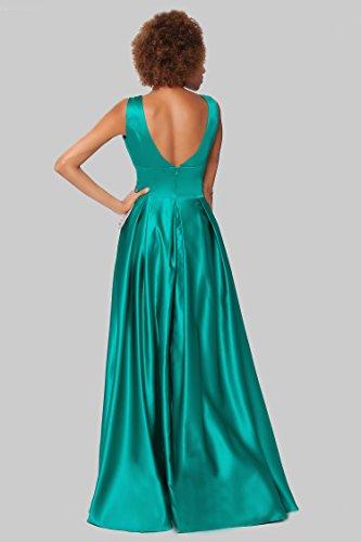 SEXYHER Herrliches bodenlangen Strapless Brautjungfern formales Abend-Kleid - EDJ1603 Seagreen