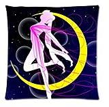 Daily Necessities Hot Japanese anime Series & Sailor Moon Dance on the Moon throw Pillow case design Pillowcase Pillow Sham 45,7x 45,7cm due lati