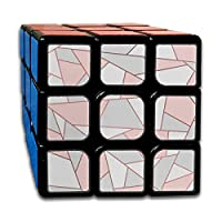 JOCHUAN Custom 3x3 Puzzle Cube Organizer Best Brain Training Toys 3x3x3 Rose Gold Geometric 3 3 3 Speed Cube Party Game For Boys Girls Kids Toddlers-55mm