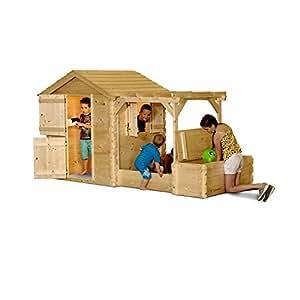 Gartenpirat Maison de jeu pour enfant en bois composée de bacs à sable et d'une pergola
