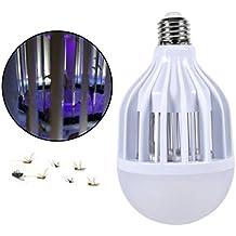 aquiver E27 220 V 15 W bombilla LED antimosquitos, insectos voladores polillas Killer insectos Zappers