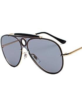 Aoligei Personalidad de gafas solares Sapo hueco redondo color gafas de sol gafas de espejo