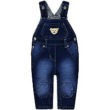 Steiff Baby-Jungen Latzhose Jeans Wirk