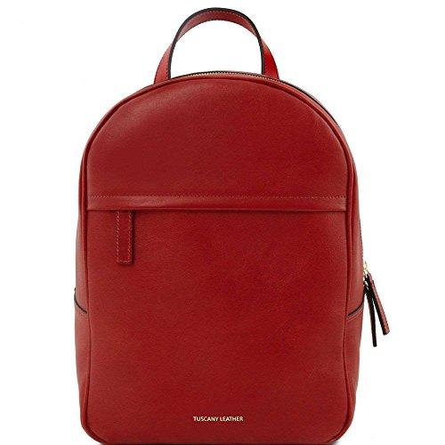 Tuscany Leather - TL Bag - Sac à dos pour femme en cuir - Rouge