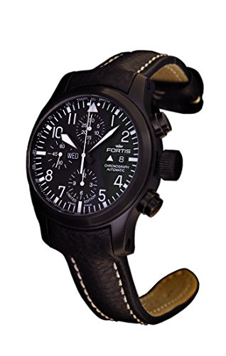 Fortis b-42Flieger cronografo nero
