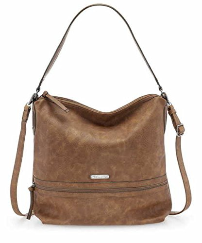 Tamaris PATTY Hobo Bag L Größe - Braun (braun) (Braune Clutch Wallet)