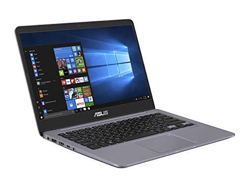 Asus S410UA-EB1056T PC portable 14' Gris métal (Intel Core i3, 8 Go de RAM, 1 to + SSD 128 Go, Windows 10) Clavier AZERTY Français