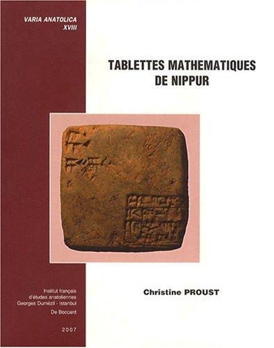 Tablettes mathématiques de Nippur (1Cédérom)