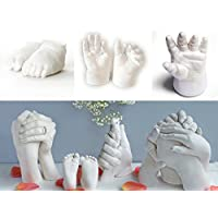 Trayosin Baby Handabdruck und Fu/ßabdruck Set mit Echtholz Bilderrahmen DIY Baby Hand und Fu/ßabdruck Abdruckset Geschenken f/ür Neugeborene